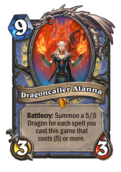 Dragoncaller Alanna HS Mage Legendary Card
