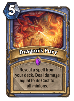 Dragon's Fury HS Mage Card