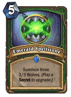 Emerald Spellstone HS Hunter Card