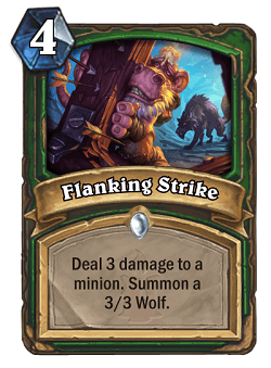 Flanking Strike HS Hunter Card