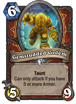 Gemstudded Golem HS Warrior Card