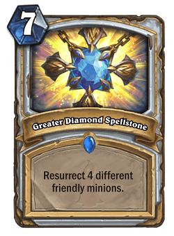 Greater Diamond Spellstone HS Priest Card