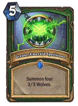 Greater Emerald Spellstone HS Hunter Card