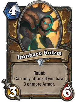 Ironbark Golem HS Druid Card