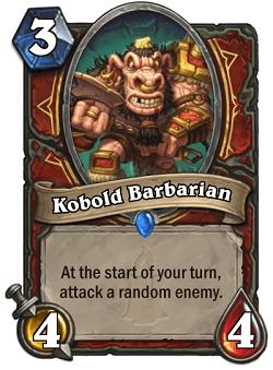 Kobold Barbarian HS Warrior Card