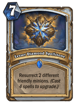 Lesser Diamond Spellstone HS Priest Card