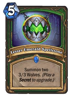 Lesser Emerald Spellstone HS Hunter Card
