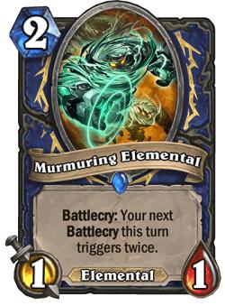 Murmuring Elemental HS Shaman Card