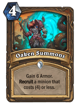 Oaken Summons HS Druid Card