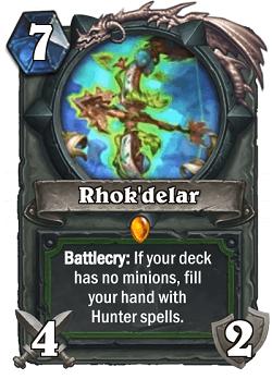 Rhok'delar HS Hunter Legendary Card