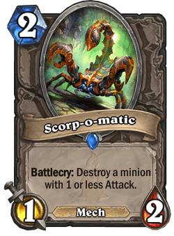 Scorp-o-matic HS Card