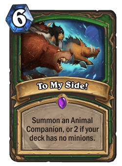 To My Side HS Hunter Card