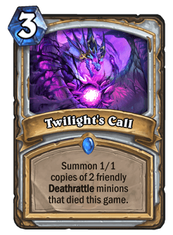 Twilight's Call HS Priest Card