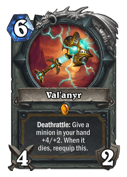 Val'anyr HS Paladin Legendary Card