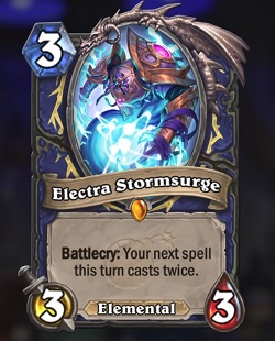 Electra Stormsurge HS Shaman Legendary Boomsday Card