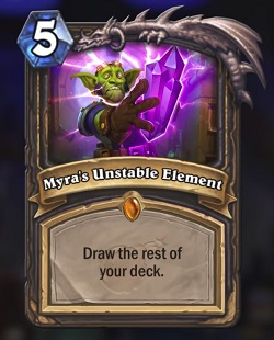 Myras Unstable Element HS Legendary Spell Boomsday