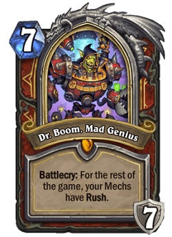 Dr Boom Mad Genius HS Warrior Legendary Card