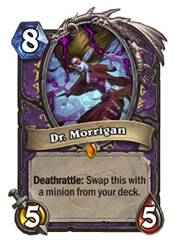 Dr Morrigan HS Warlock Legendary Card