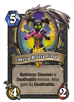 Myra Rotspring HS Rogue Legendary Card