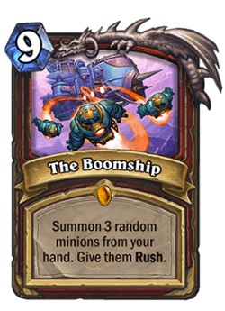 The Boomship HS Warrior Legendary Card
