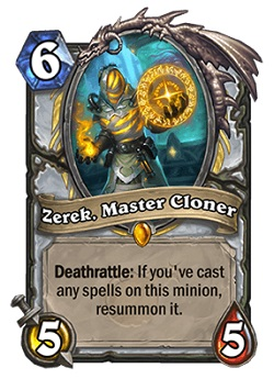 Zerek, Master Cloner HS Priest Legendary Card