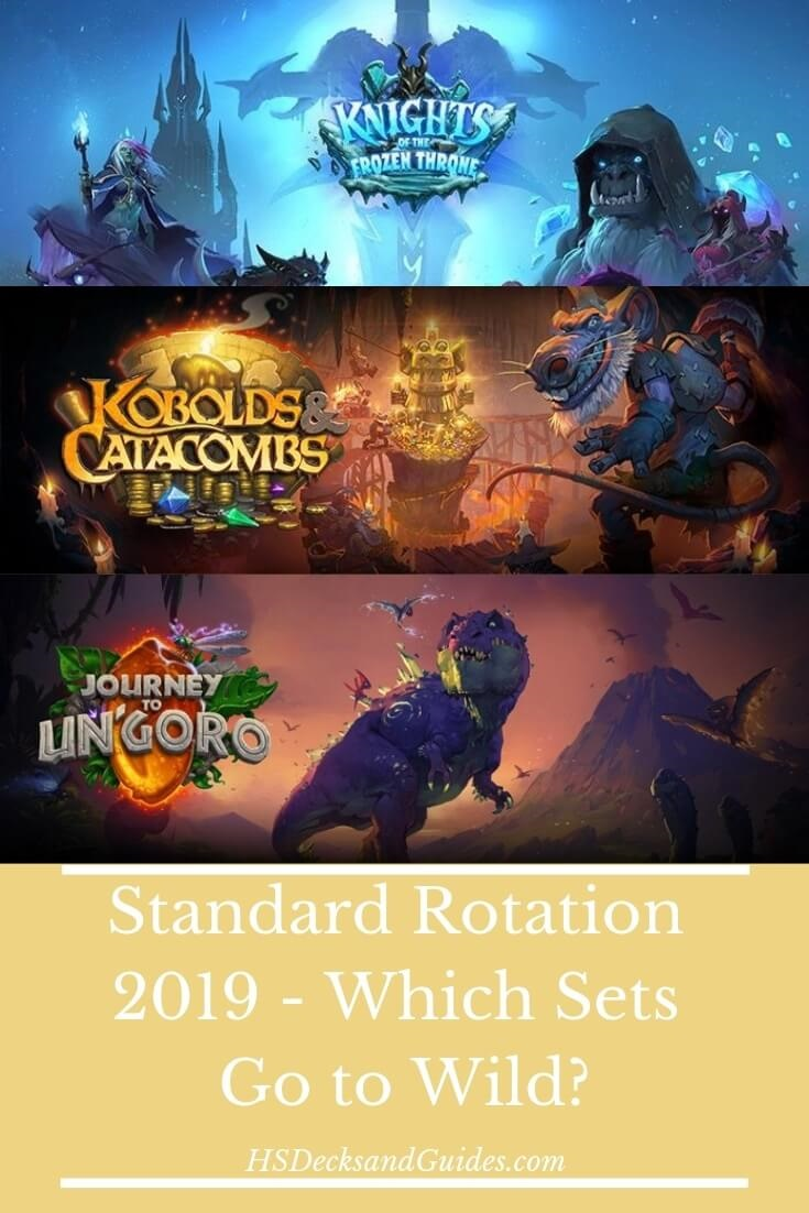 Hearthstone Standard Rotation 2019 - Which Sets Go to Wild