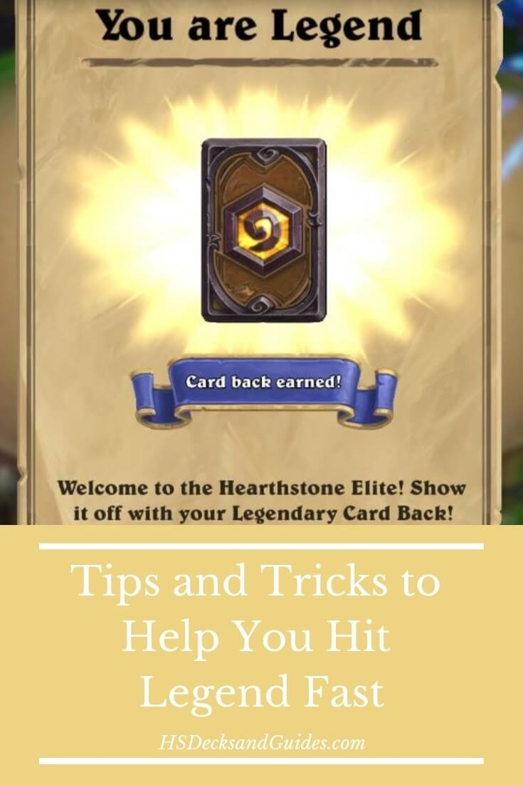 Tips to Get Fast Legend in Hearthstone