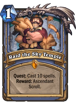 Raid the Sky Temple Mage Legendary Card