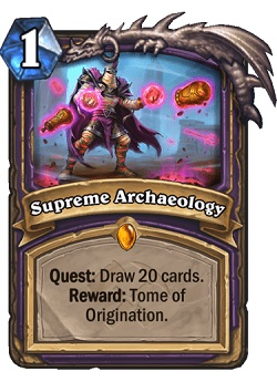 Supreme Archaeology Warlock Legendary Card