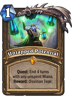 Untapped Potential Druid Legendary Card