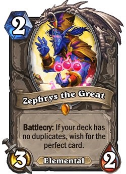 Zephrys the Great Legendary Card